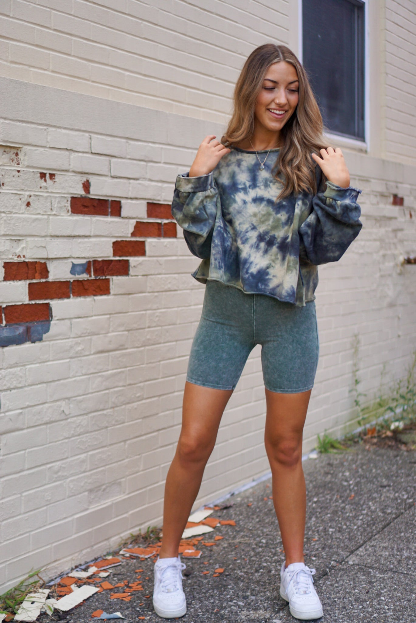 Into It Jade Biker Shorts