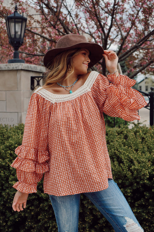 Summer Daydream Coral Blouse