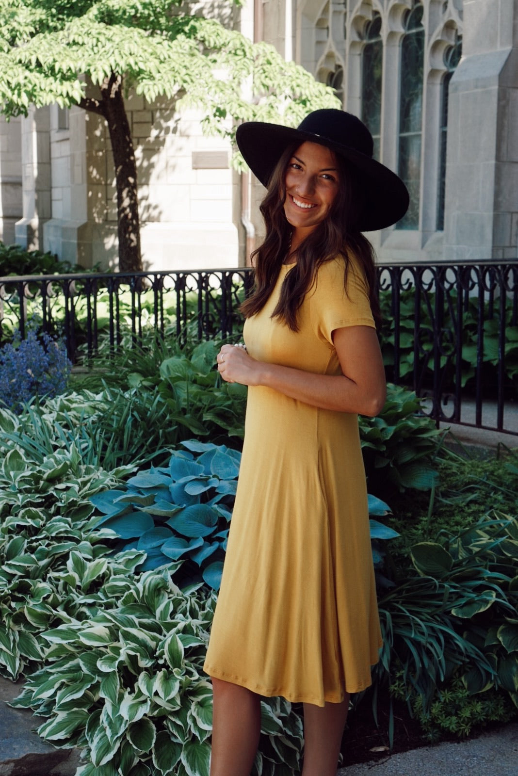 Adella Mustard Dress