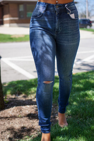 Meet Your Match Medium Wash Flares