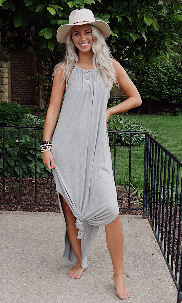 Twyla Grey Maxi Dress