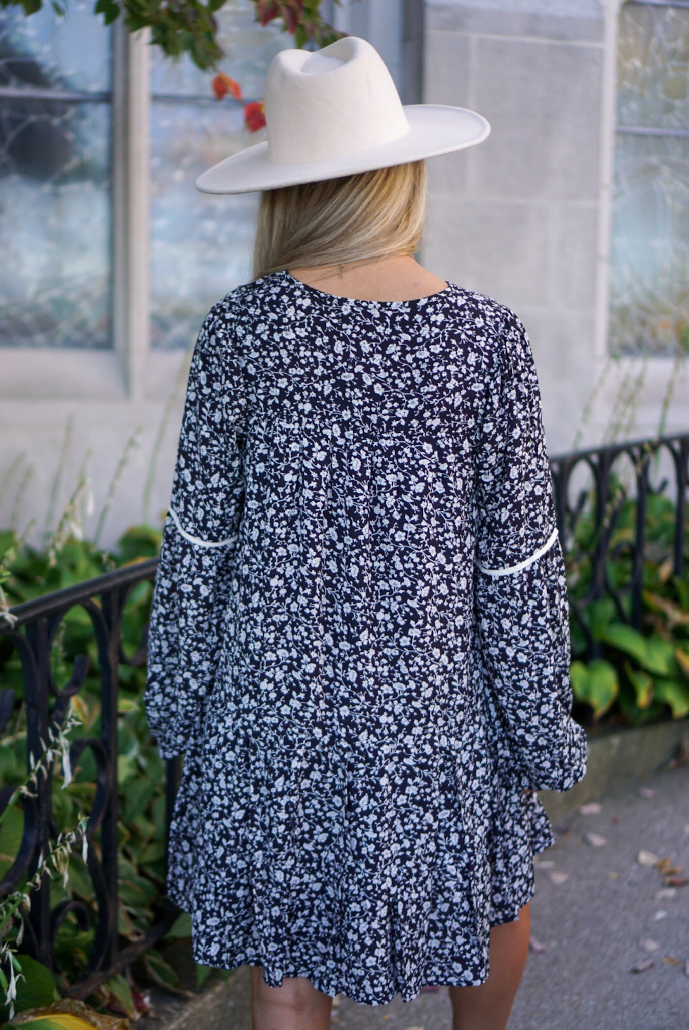 Juliet Black Floral Dress