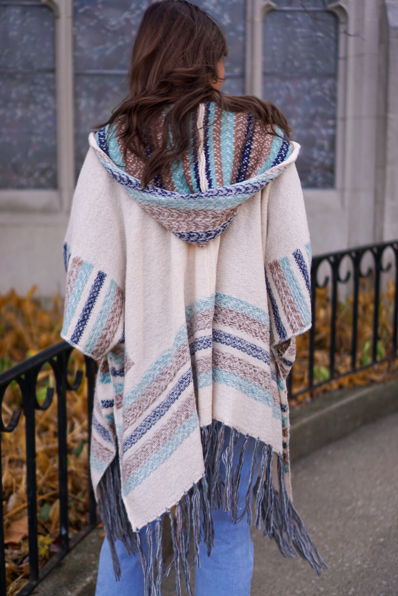 FINAL SALE Entice Me Oatmeal Poncho