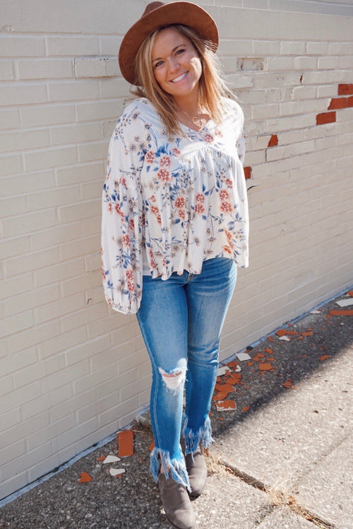 Zinnia Floral Babydoll Top
