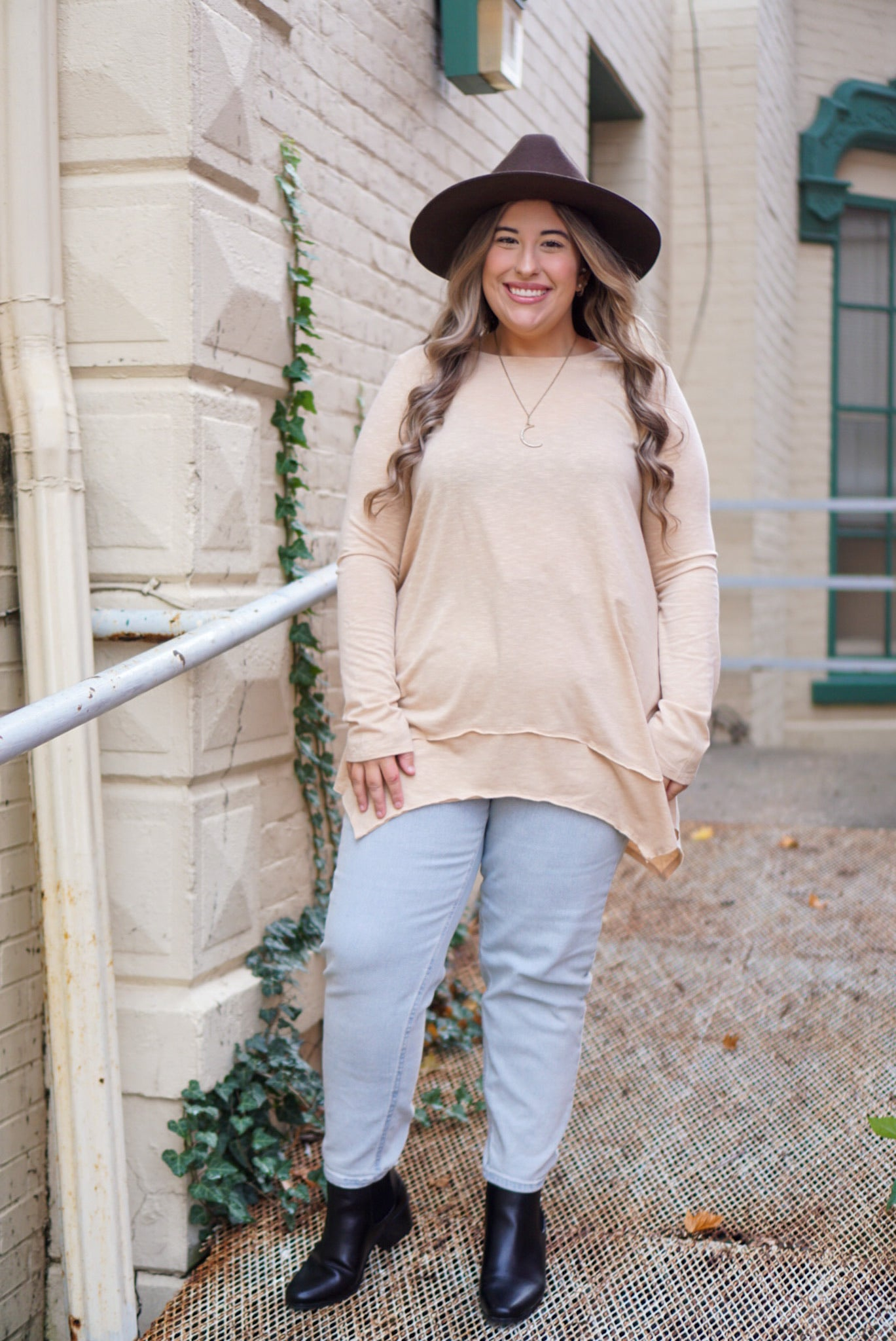 Curvy Long Talker Honey Tunic