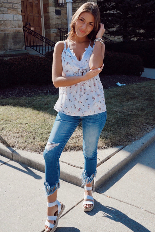 Sweeter Side Ivory Floral Tank