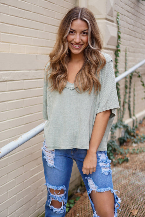 Rayna Olive Top