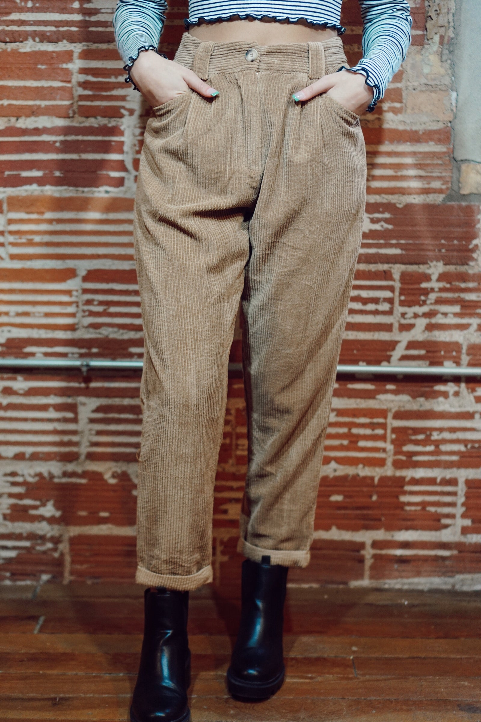 You're Such A Daydream Camel Cord Pants