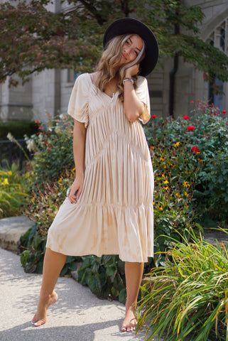 Lottie Mauve Striped Dress