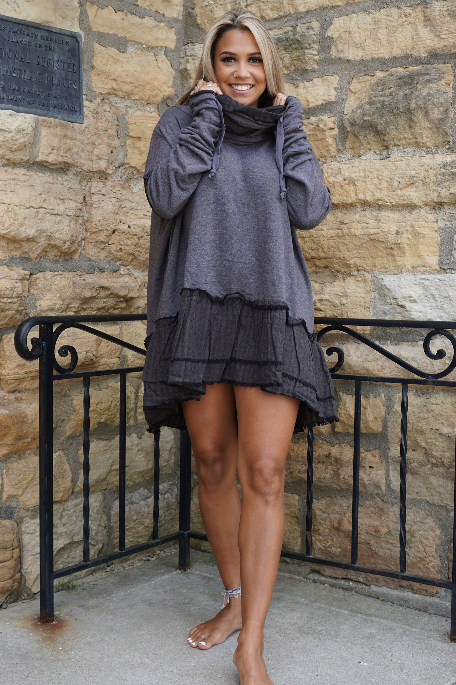 Meant To Be Ash Tunic