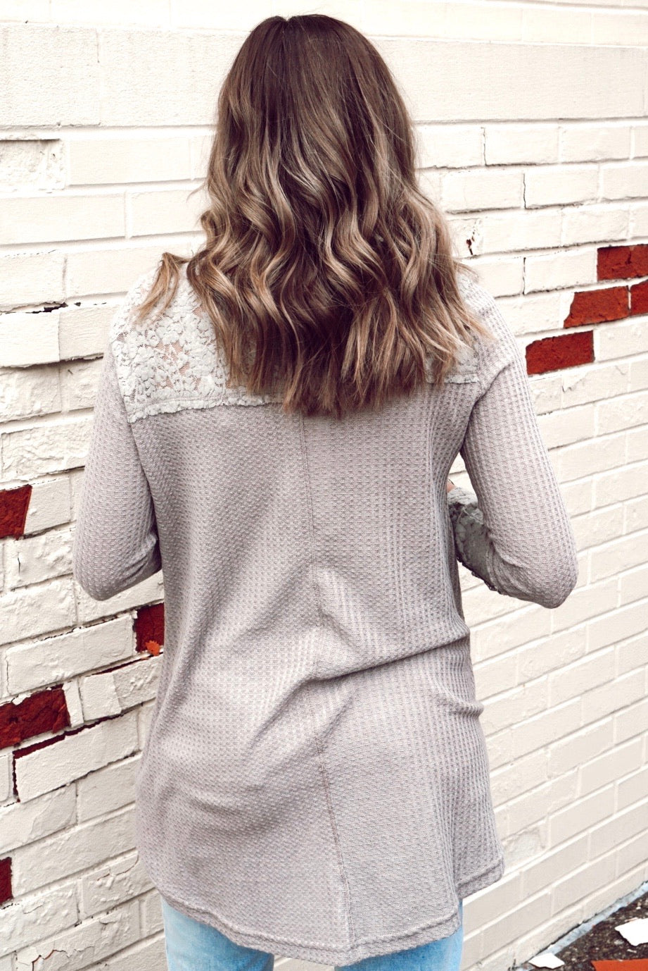 Wishful Thinking Taupe Lace Thermal