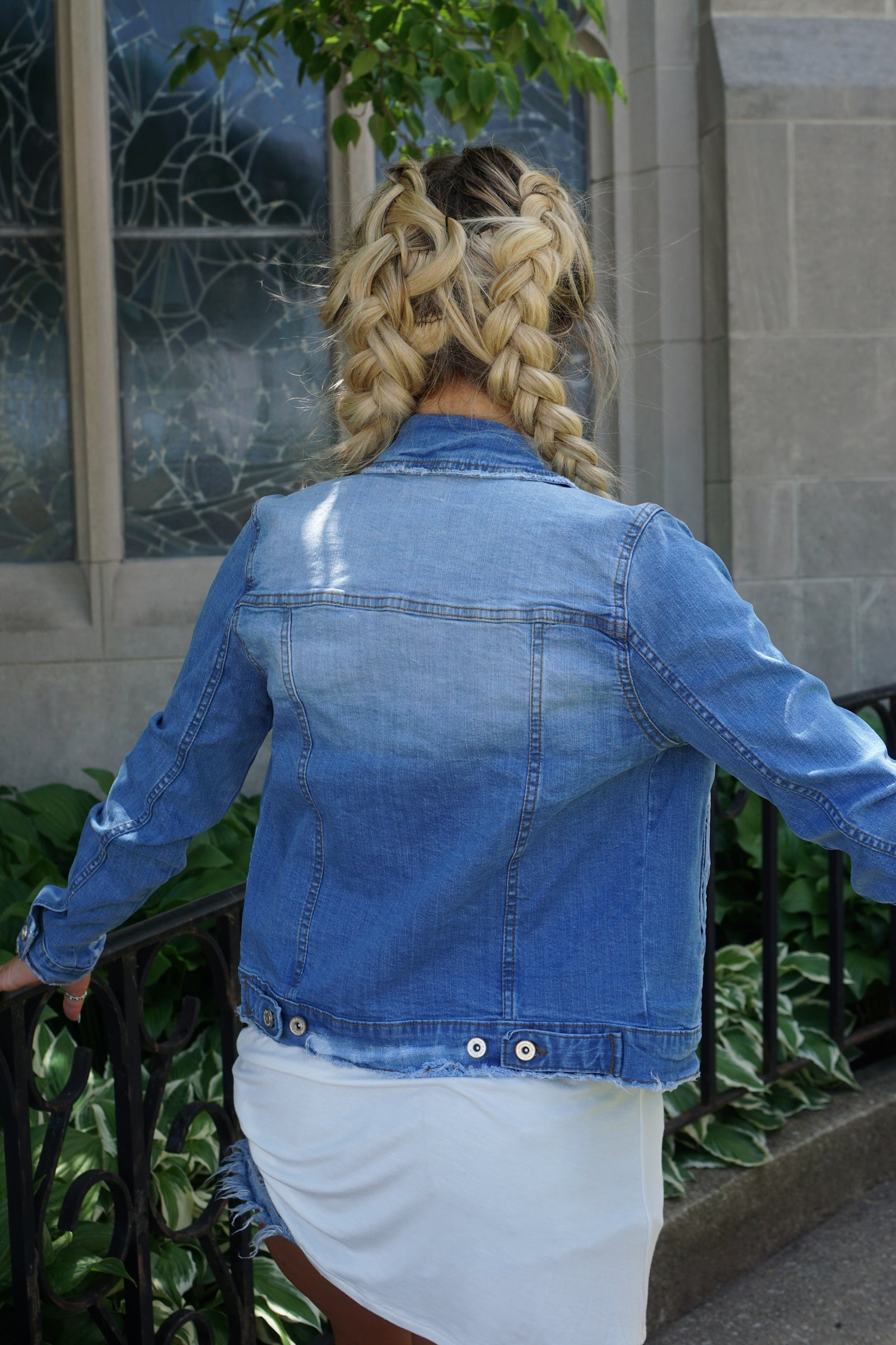 Livin' In This Medium Wash Denim Jacket