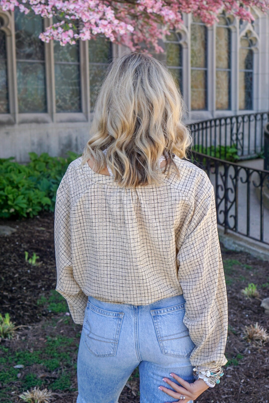 Mustard Button Up Top