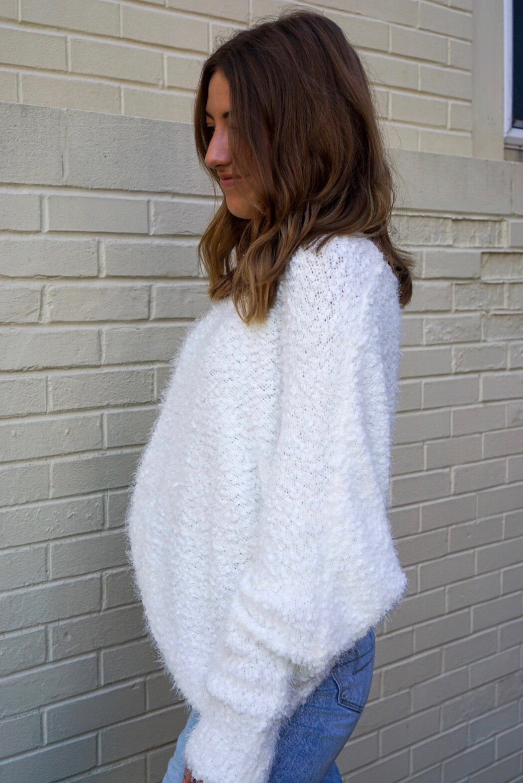 Faye Ivory Textured Sweater