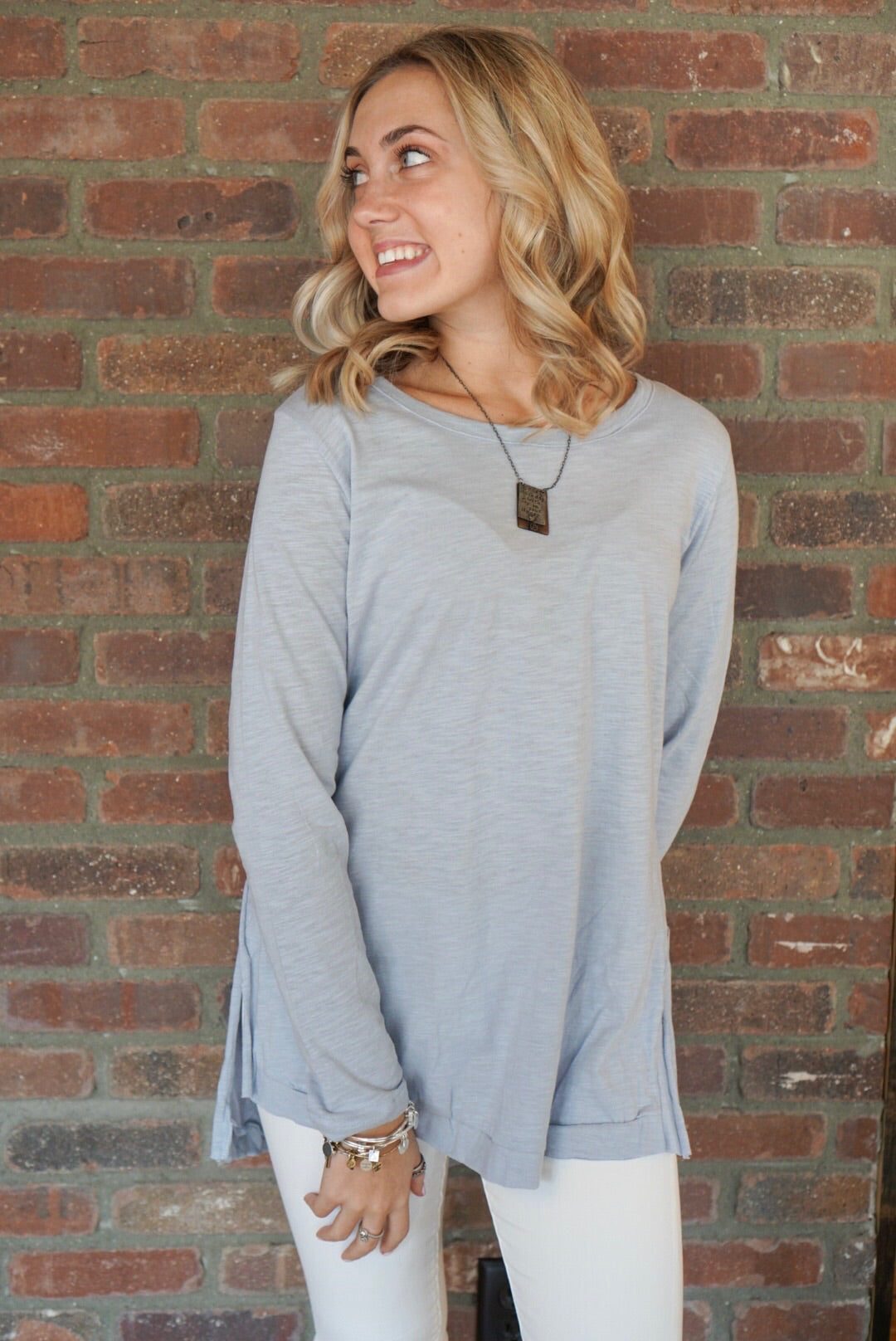 Baby Blue High Low Tee