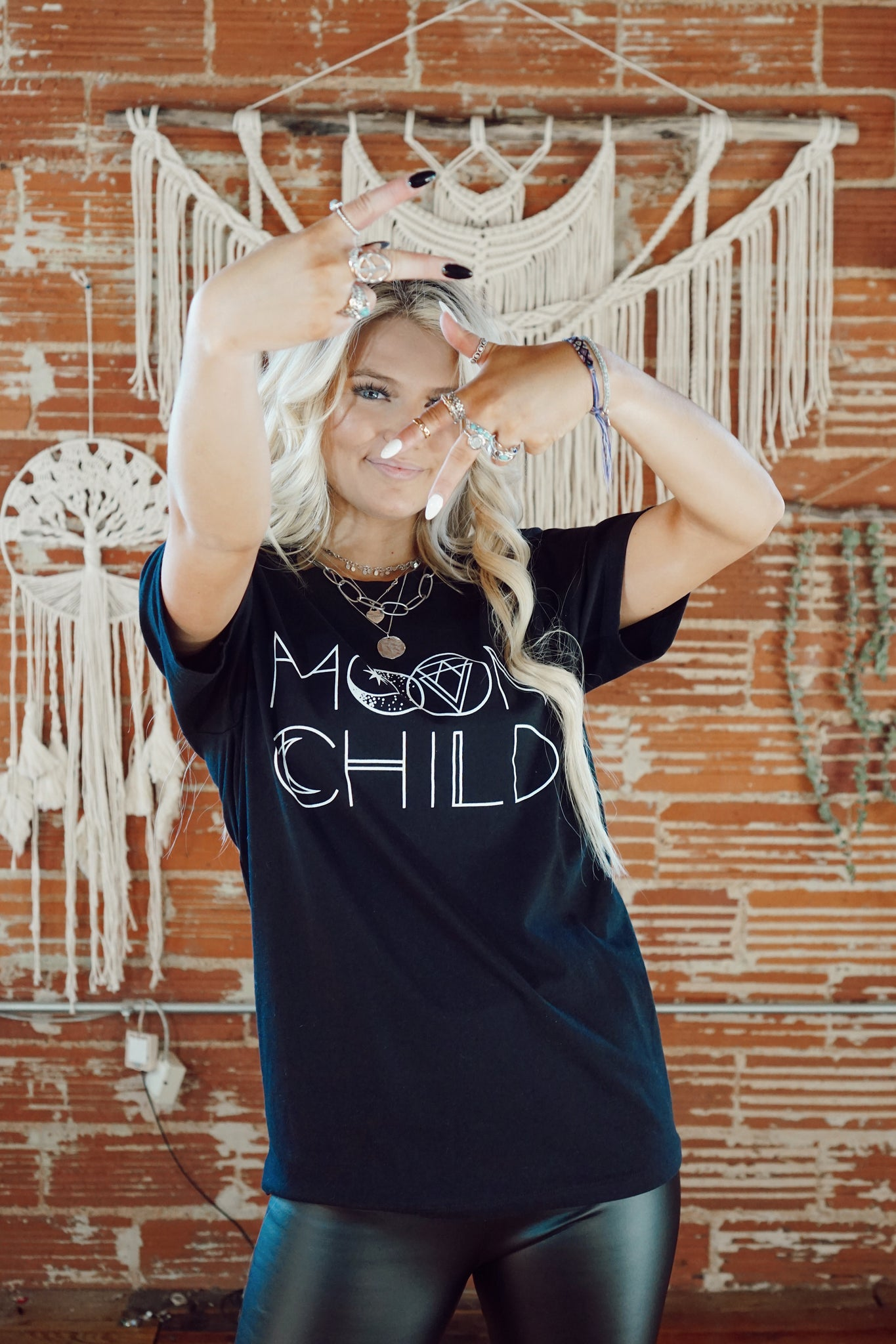 Moon Child Black Tee