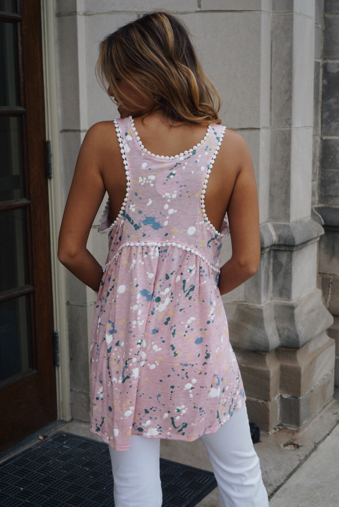 Blush Painted Tank