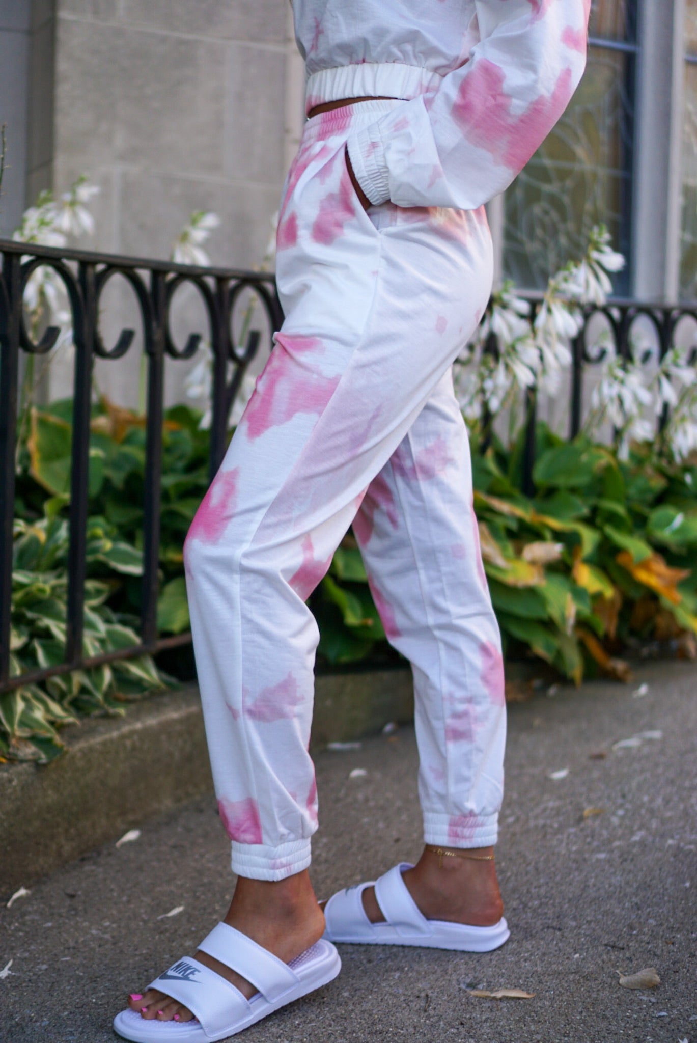 Mellow Out Rose Tie Dye Joggers