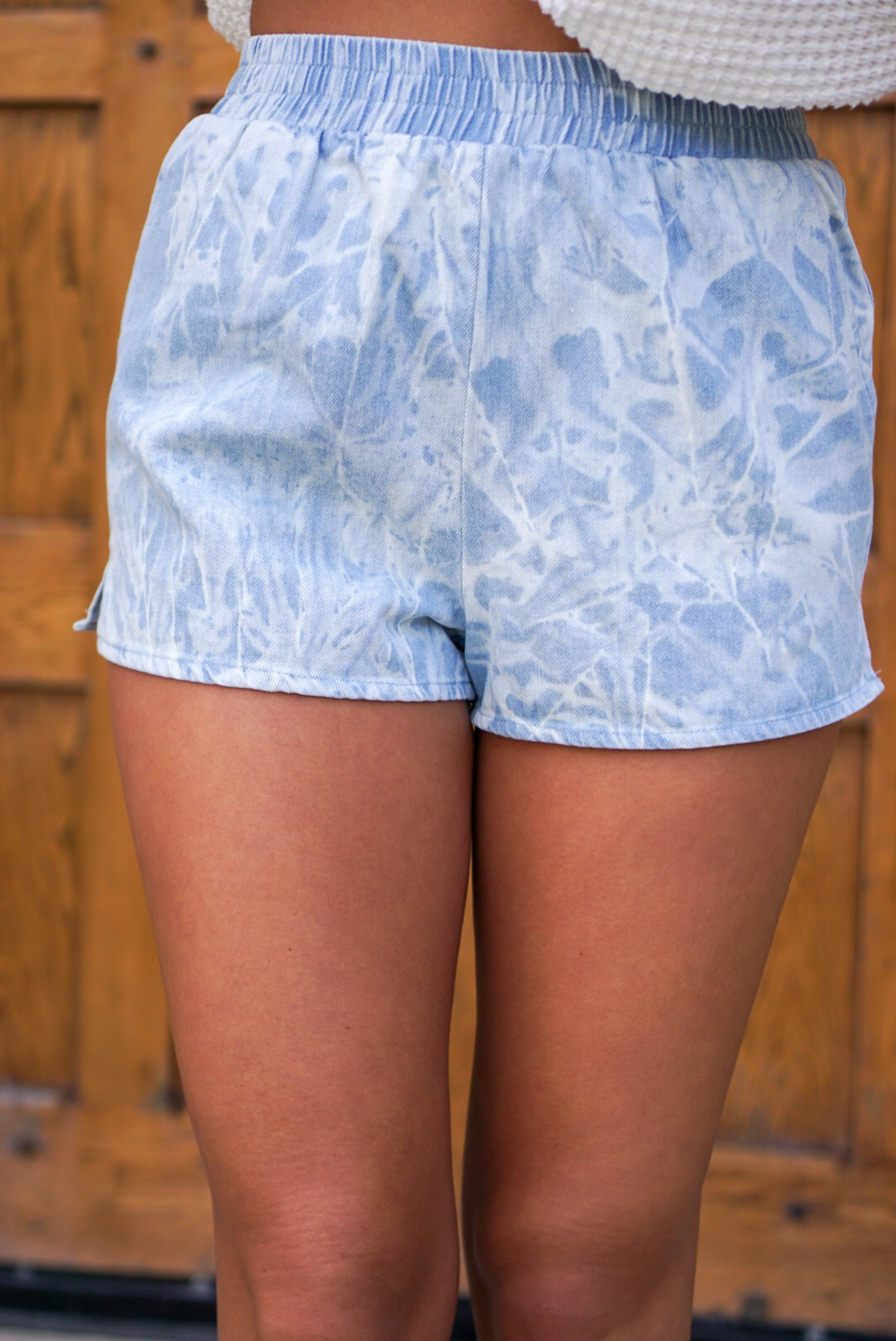 80's Park Denim Tie Dye Shorts
