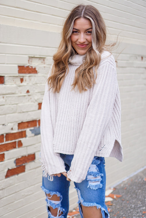 Cuddle Weather Almond Sweater