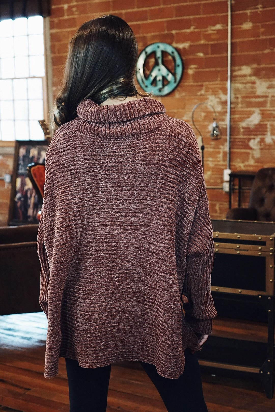 Chenille High-Low Sweater