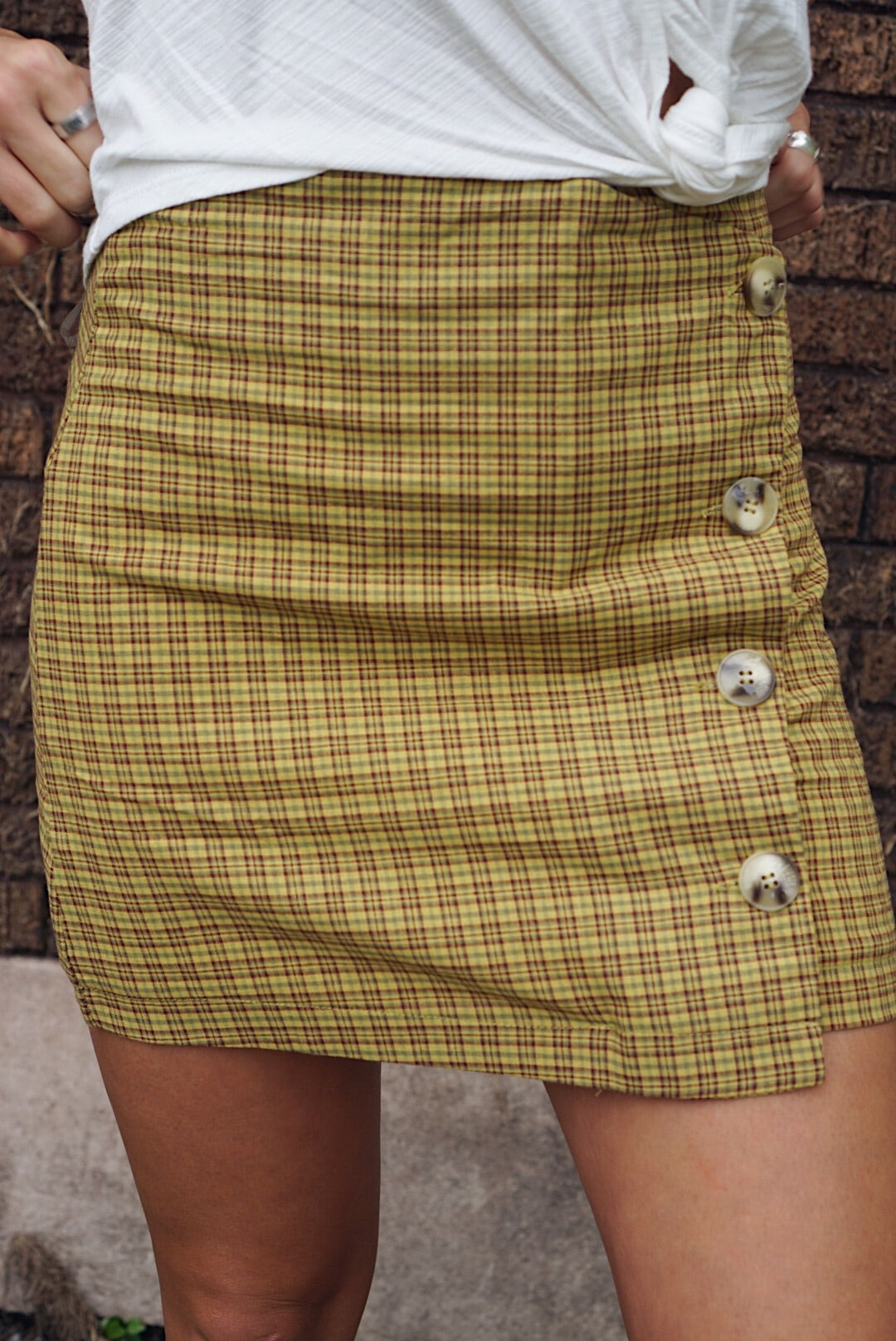 Lillian Plaid Skirt