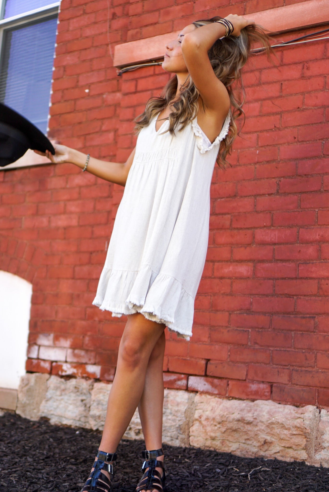 Sunshine & Whiskey Ecru Dress