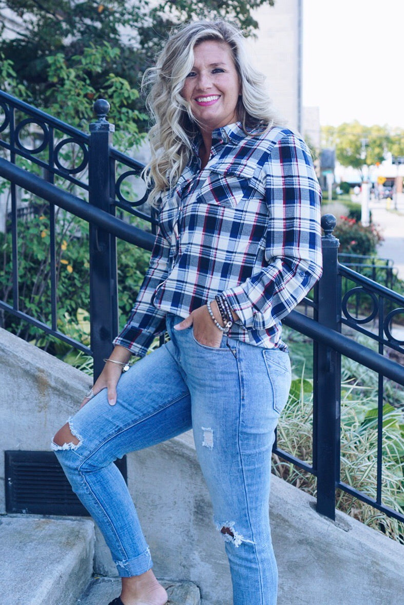 Sammy Plaid Top