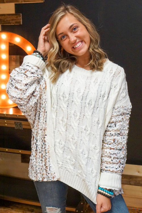 Bella Ivory Tinsel Knitted Sweater