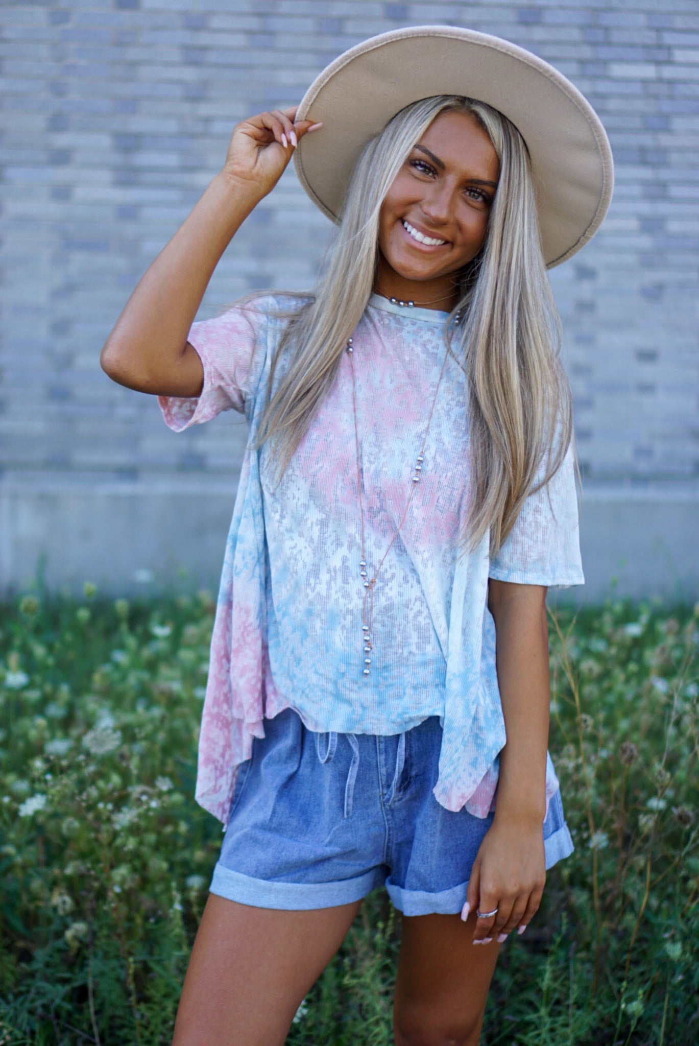 Over You Psychedelic Tie Dye Top