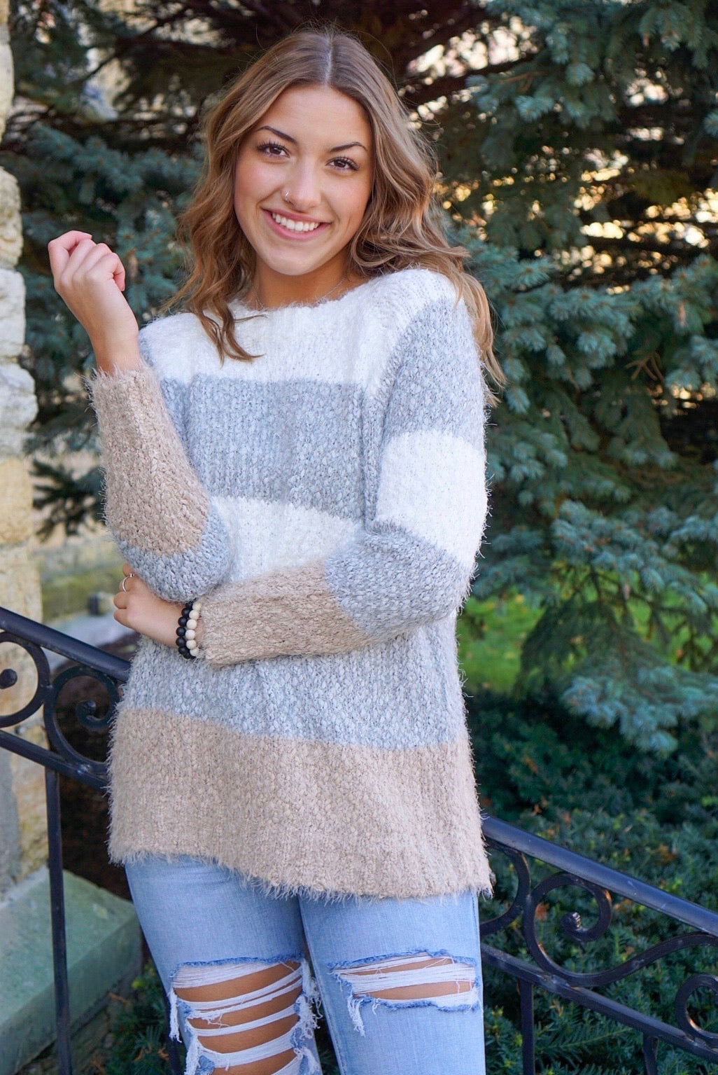 Sweater Weather Grey Textured Pullover