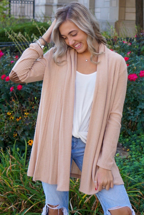 Janessa Blush Thermal Cardigan