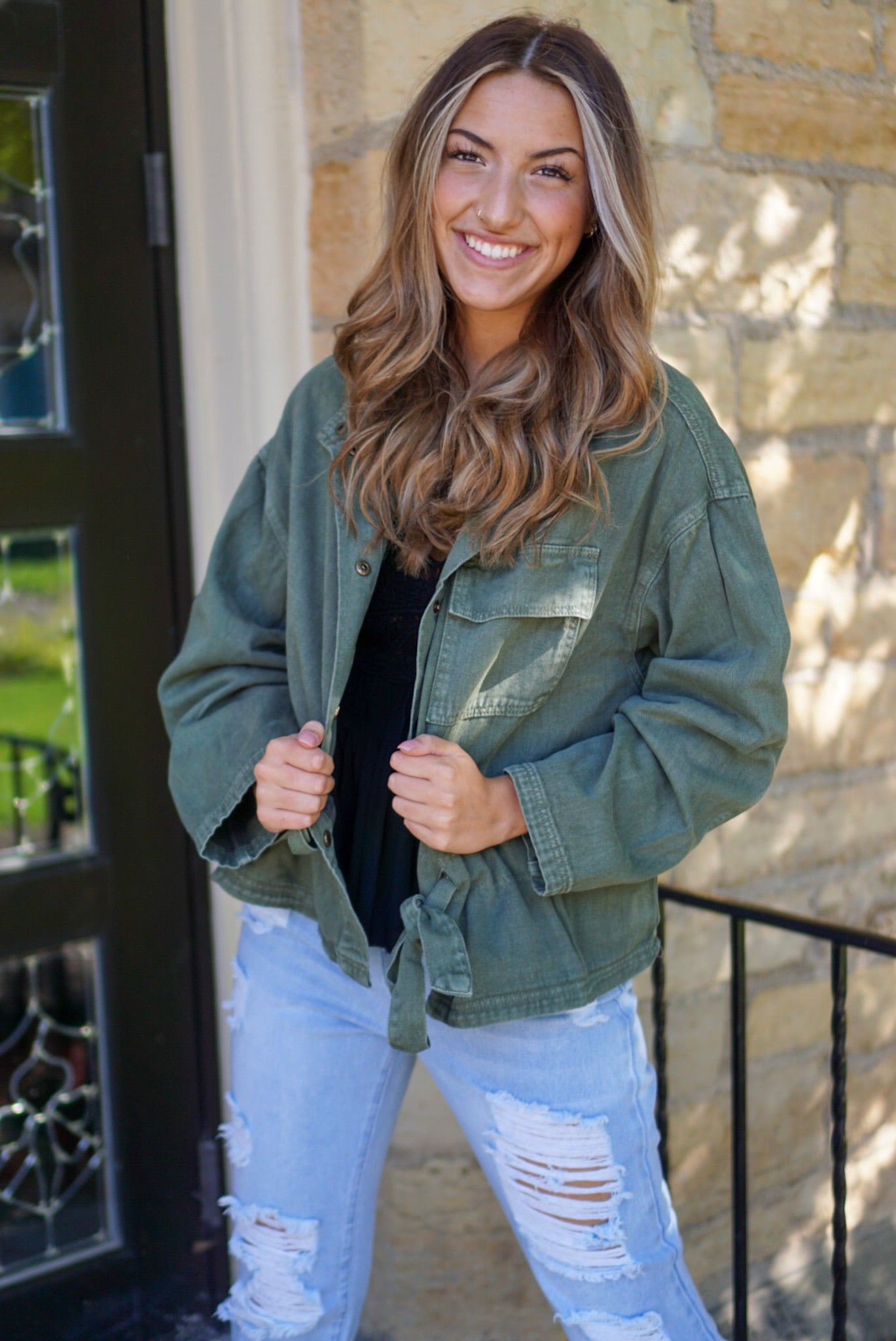 Yardley Olive Cargo Jacket