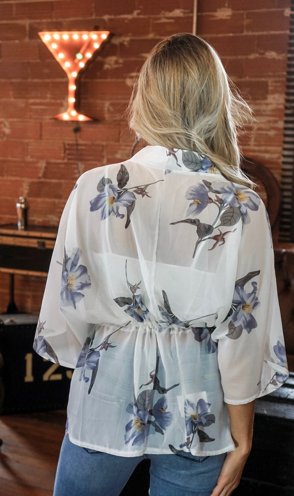 Ivory Floral Cardigan