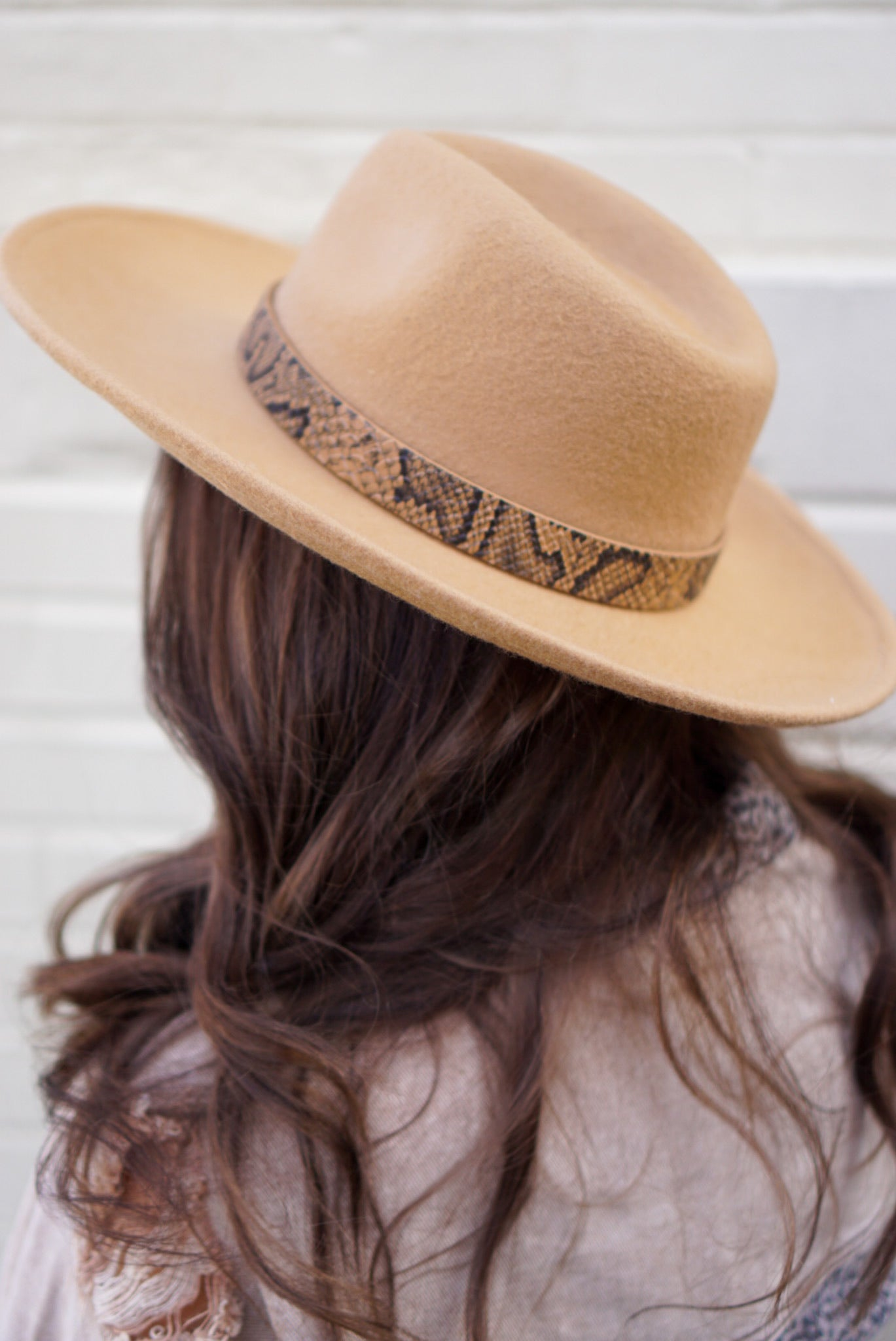 Brown Banded Felt Hat