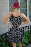 Fern Black Patterned Dress