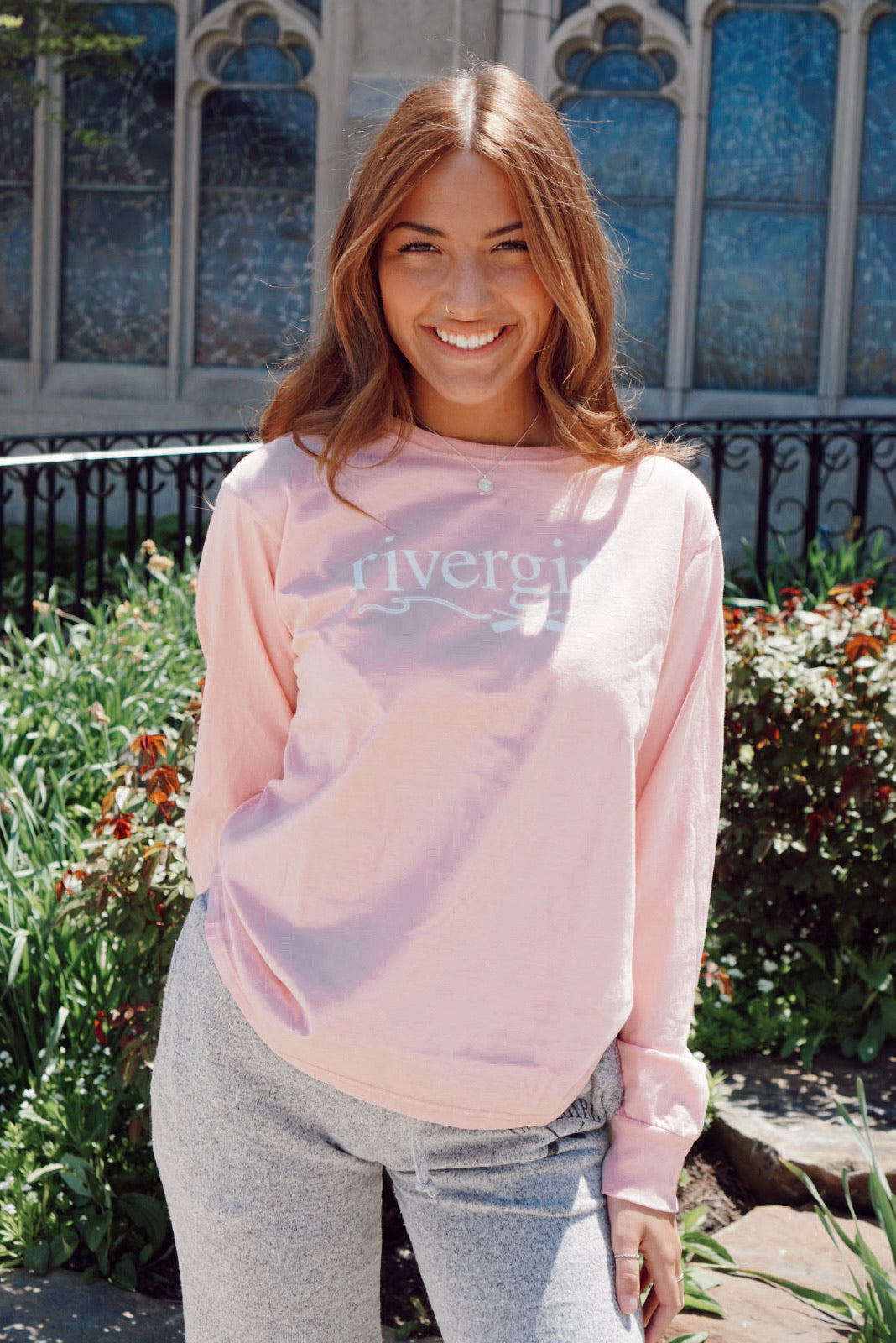 River Girl Rose Quartz Tee