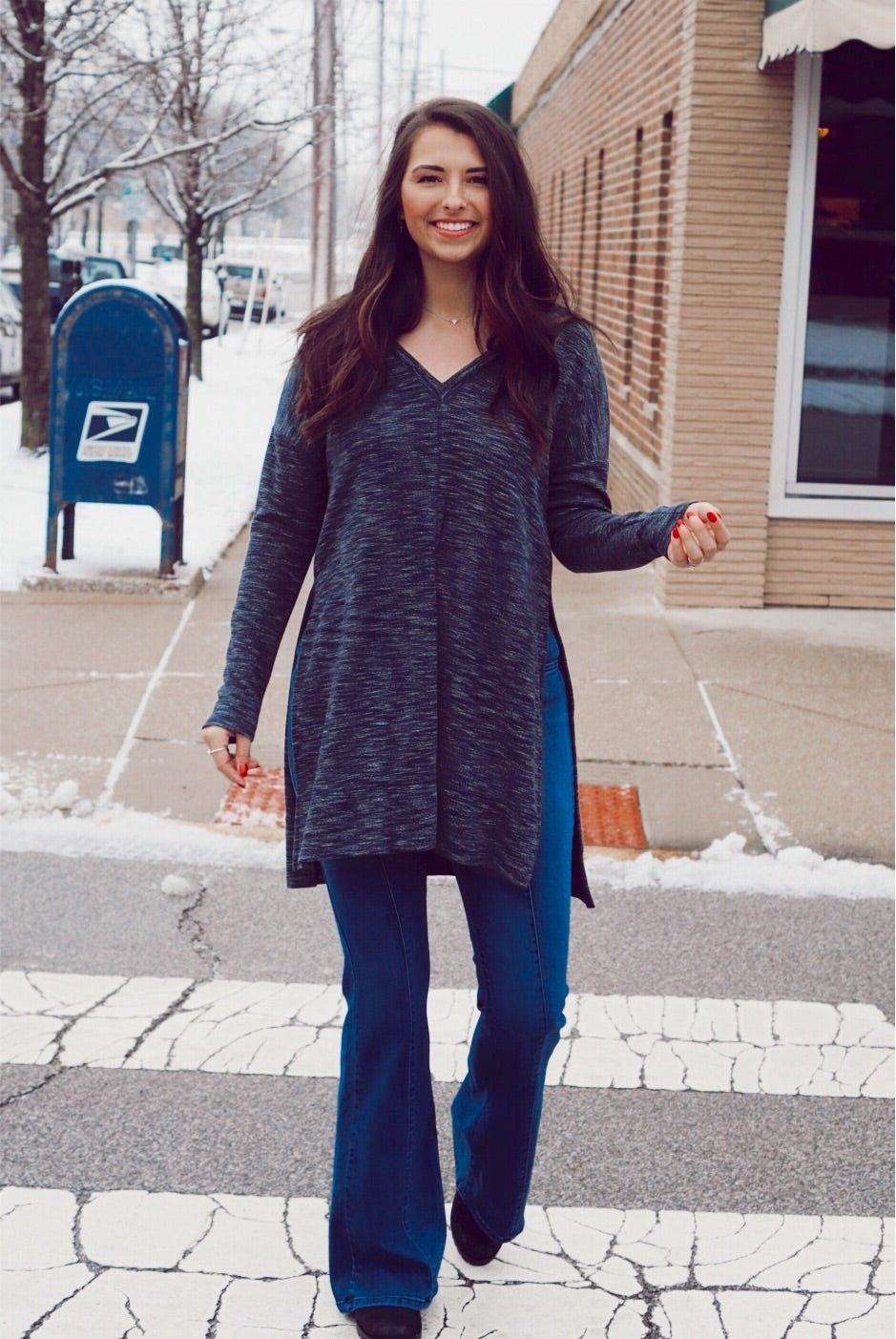 Switch It Up Navy Hooded Tunic