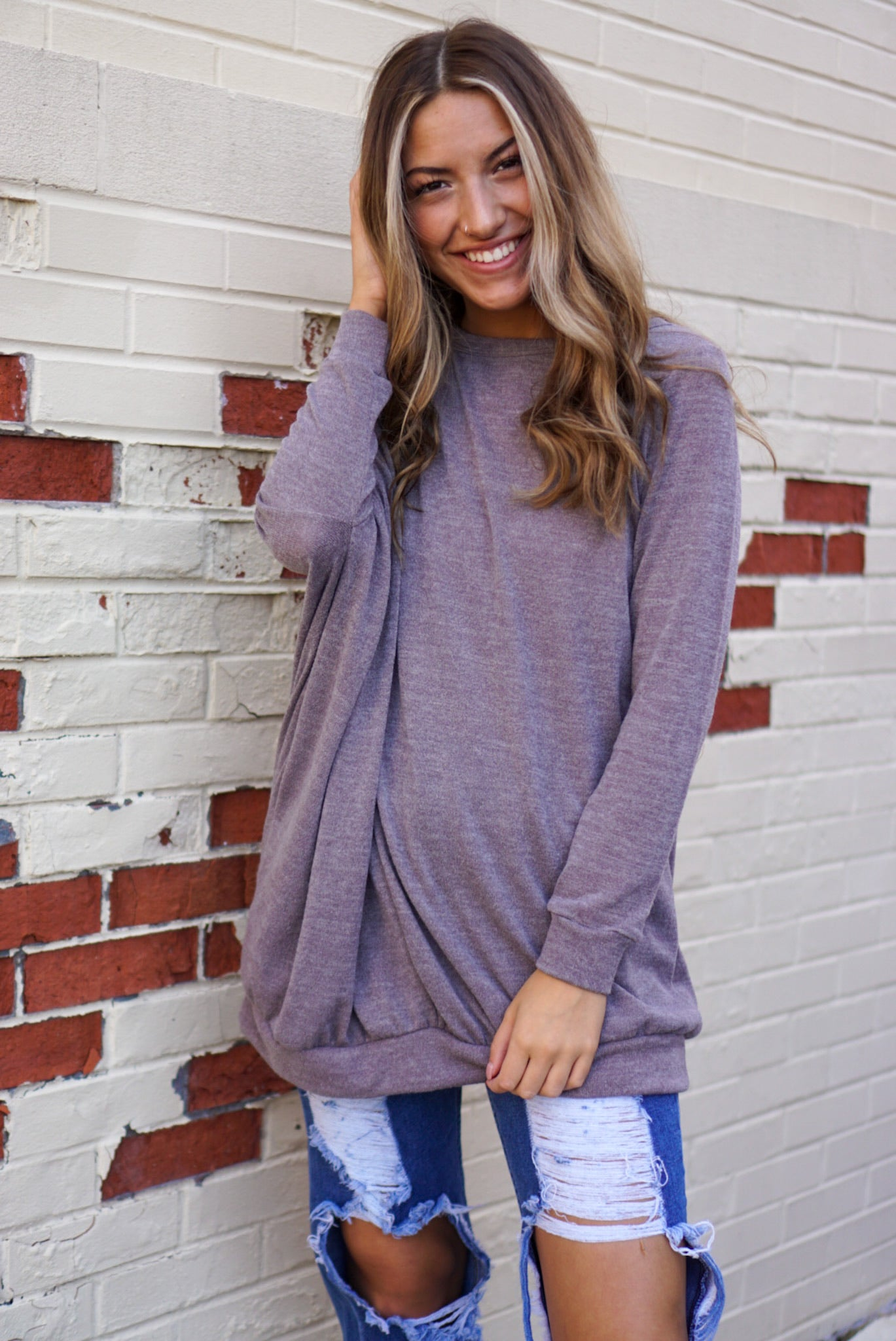 Call It Like It Is Mocha Tunic