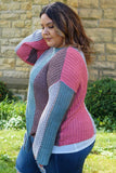 Dusk Curvy Rose Knit Sweater