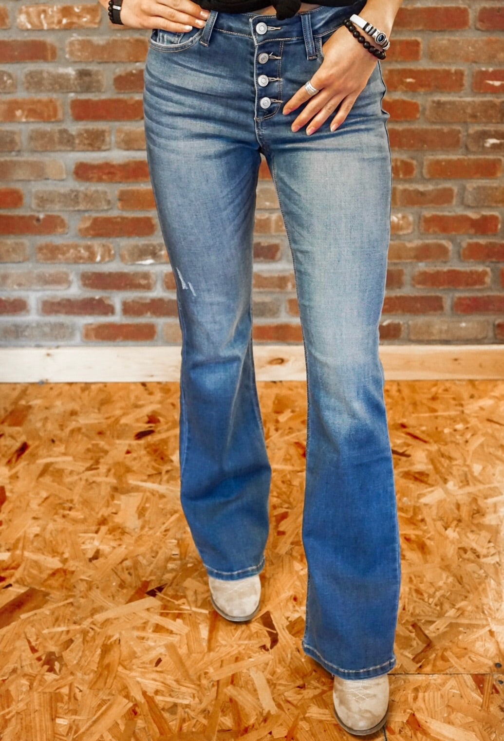 High Rise Medium Wash Jeans