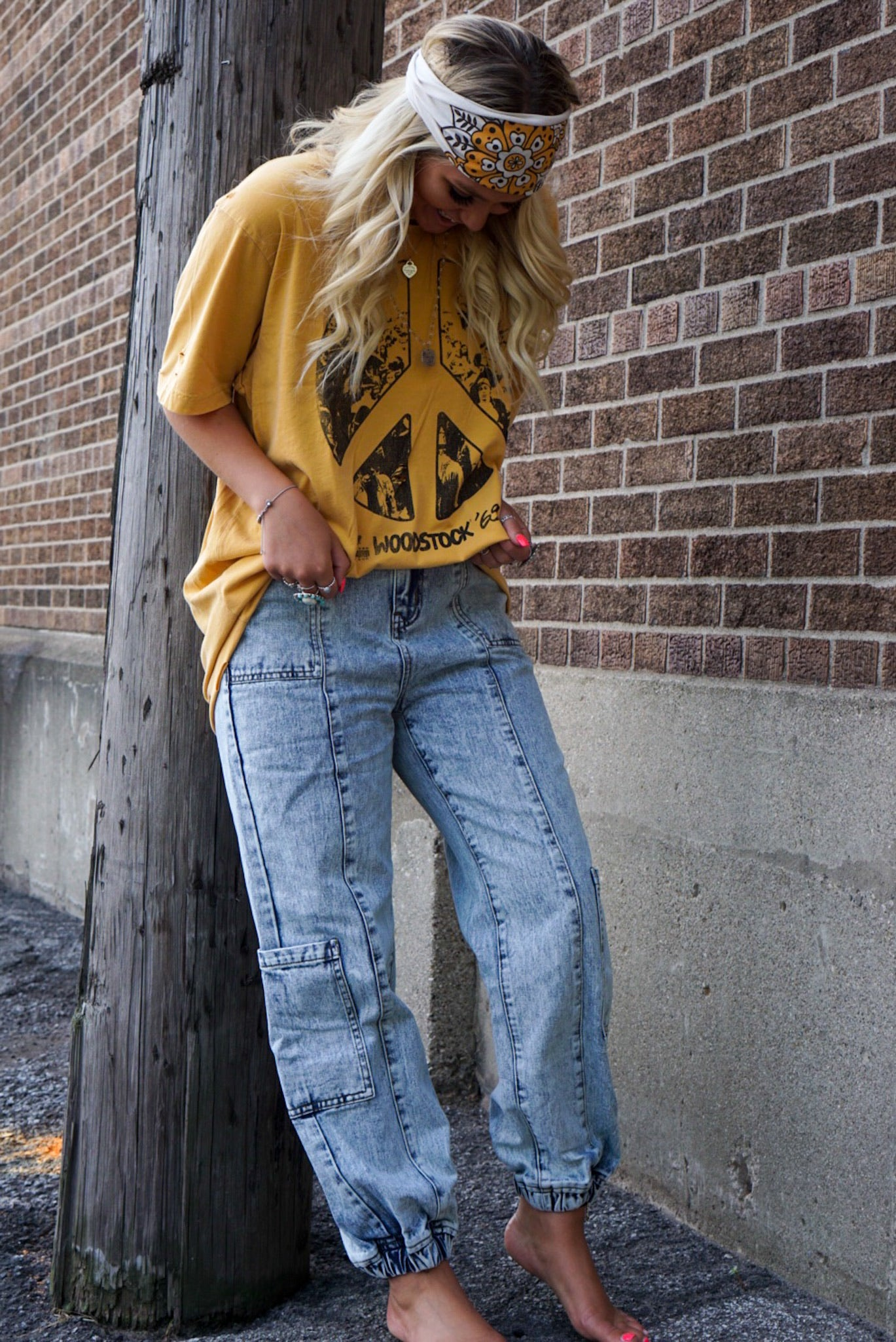 On Repeat Denim Cargo Pants