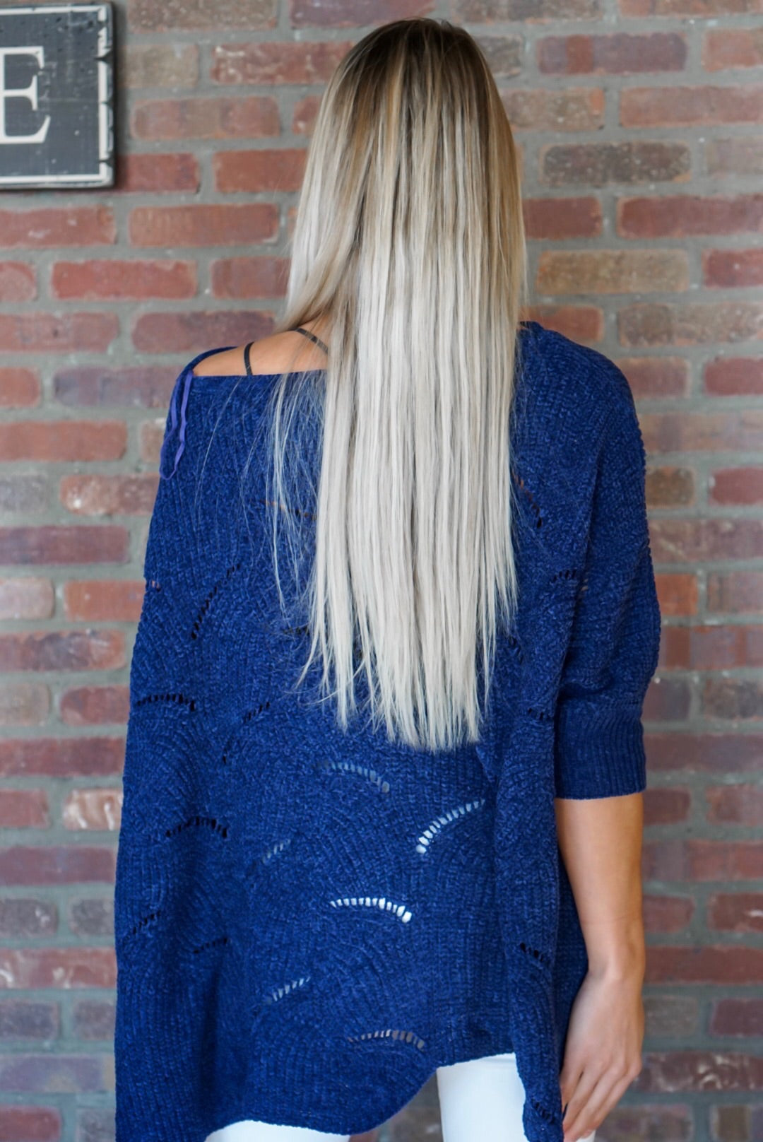 Vintage Blue Chenille Sweater