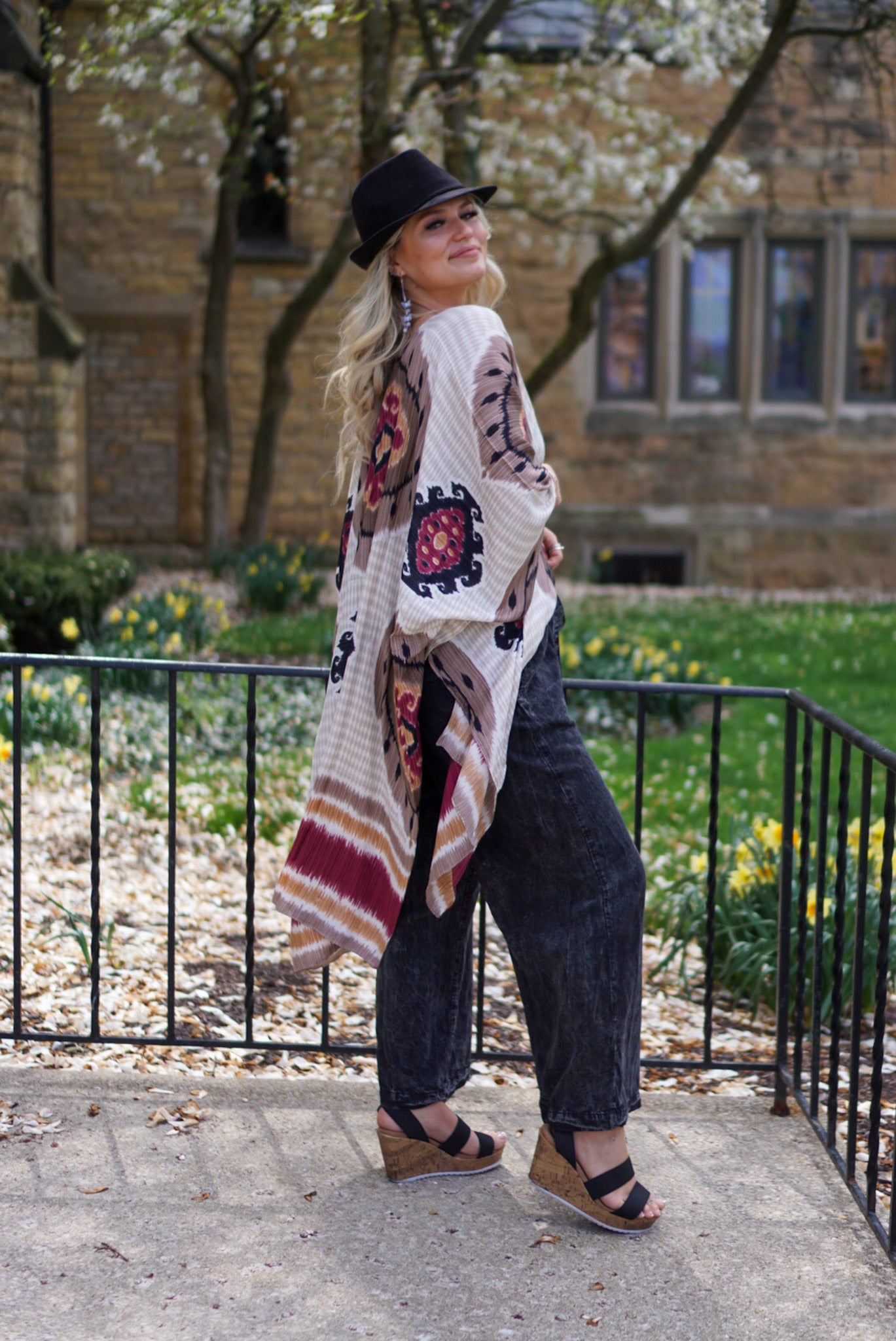 In The Valley Henna Printed Duster