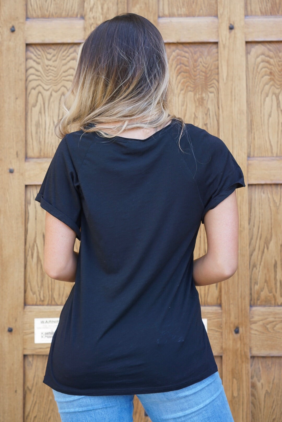Black Pocket Tee