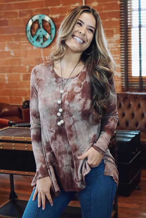 Cranberry Tie Dyed Top