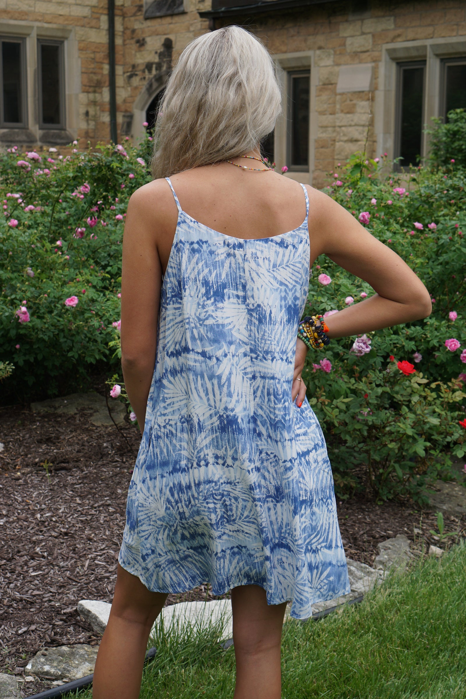 Menorca Blue Tie Dye Dress