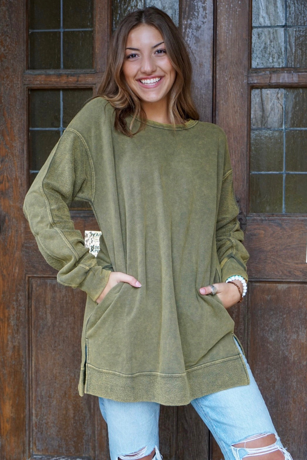 Stella Olive Terry Knit Pullover