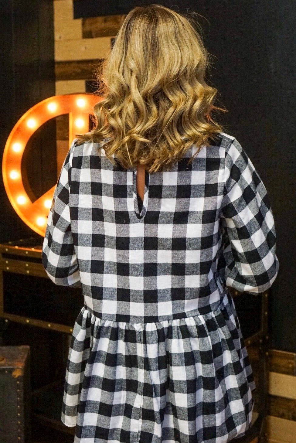 Check It Out Black And White Flannel