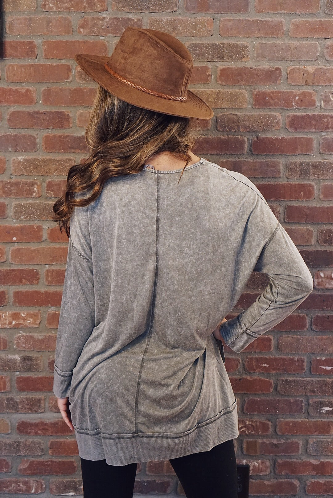 Grey Acid Wash Cardigan